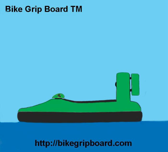 Green Hovercraft with rider