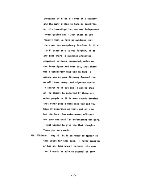 Page 10 of the James Earl Ray Guilty Plea