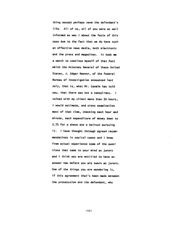 Page 11 of the James Earl Ray Guilty Plea