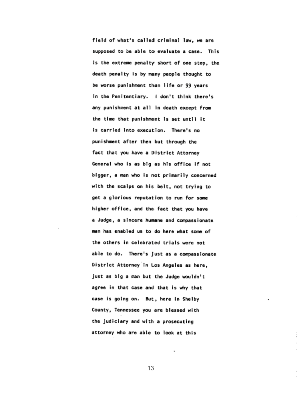 Page 13 of the James Earl Ray Guilty Plea