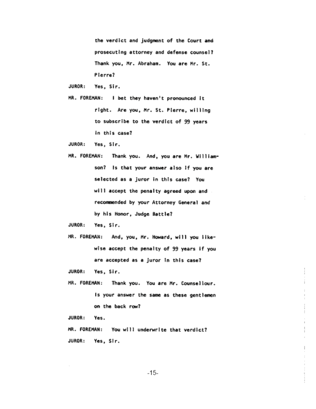 Page 15 of the James Earl Ray Guilty Plea
